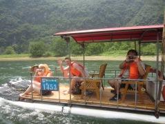 Enjoying the river cruise