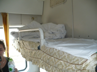 My bunk in the train