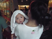 this baby had that same look on his face for about 30 seconds. It was so cute and funny